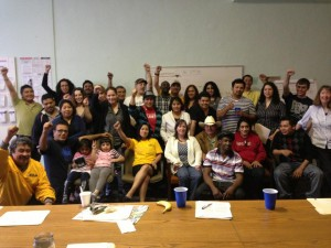 April 2013 Immigrant Leadership Training at the CIWC facilitated by Jorge Mujica from ARISE Chicago.