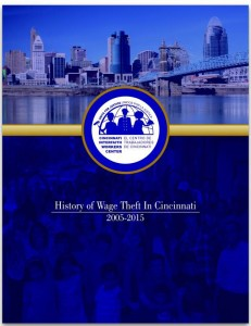 History of Wage Theft in Cincinnati 2005-2015 (cover)
